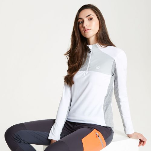 Women's Default Core Stretch Half Zip Midlayer - White Argent Grey